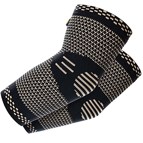 ABYON Copper Elbow Compression Sleeve(1 Pair)for Tendonitis,...