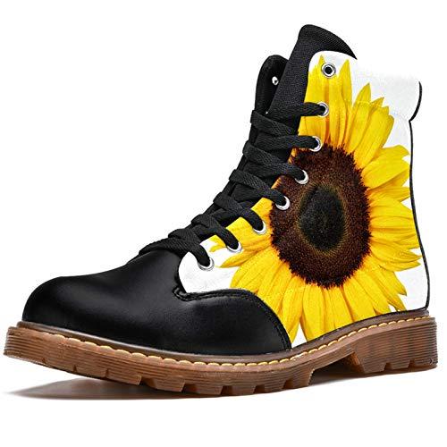 Bennigiry Hermosa Chica de Acuarela de Primavera con Flores de Mariposa Botas de Invierno Zapatos clásicos de Lona de caña Alta para Mujer