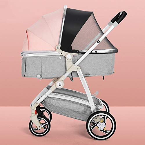 Sale!! HELIn Lightweight Baby Stroller - Luxury Pram Compact Single Baby Carriage with Compact Foldi...