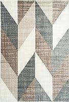 Ladole Rugs ヴィンテージ幾何学模様 エリアラグ リビングルーム ベッドルーム エントランス 廊下カーペット ベージュ グレー ブラウン 8x11 (7フィート10インチ x 10フィート5インチ 240cm x 320cm) 5x7 8x10 9x12 2x10 4x6フィート