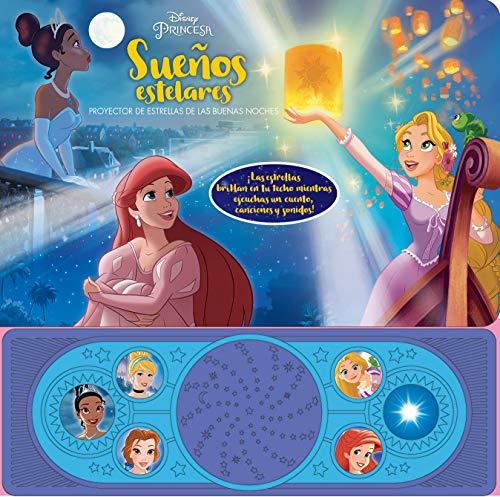 Disney Princesas Ariel, Rapunzel, Tiana y Mas! Suenos Estelares - Proyector de Estrellas de las Buenas Noches - Libro Interactivo con...