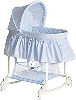 Dream On Me Willow Bassinet (Sky Blue, White or Pink)