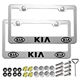 Carsport 2 Pcs Premium Aluminum Alloy License Plate Frame fit KlA, for KIA Tag License Plate