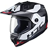 HJC Helmets DS-X1 Dual-Sport Helmet - Tactic (X-Large) (RED/White/Black)