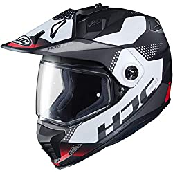 small HJC DS-X1 Dual Sport Helmet-Tactical (X-Large) (Red / White / Black)