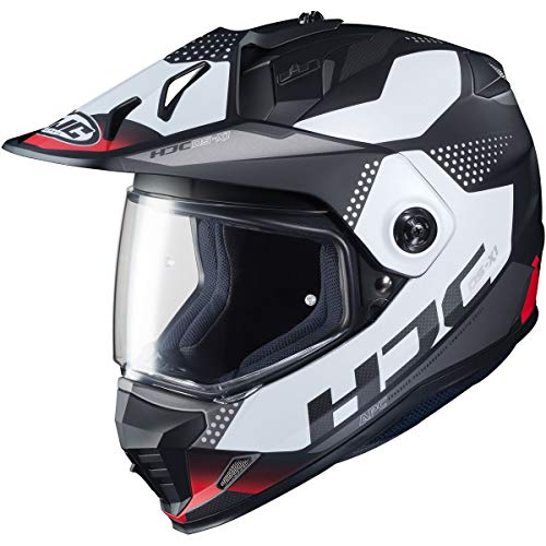 HJC Helmets DS-X1 Dual-Sport Helmet - Tactic (X-Large) (RED/White/Black)