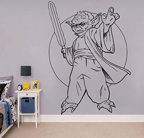 Decorazione Jedi Masterhome Può Muoversi Decorazione In Vinile Arte Camera Dei Bambini Murale Regalo Di Natale57X79Cm