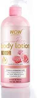 WOW Skin Science Himalayan Rose Body Lotion -Toning & Hydrating - with Rose Water, Beetroot Extract - No Mineral Oil, Sili...