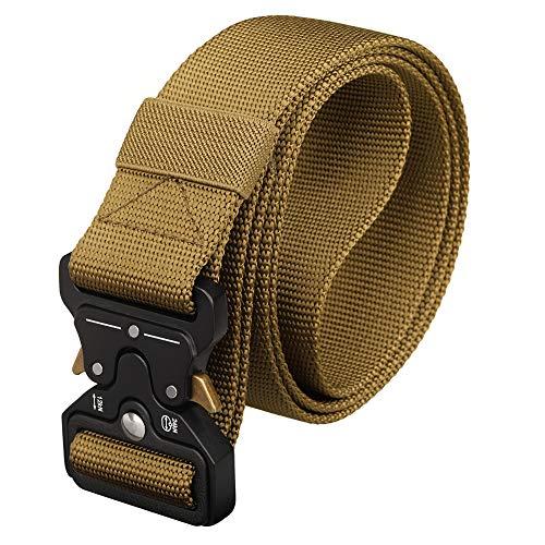 YFNT Cintura Tattica Uomo Militare, Cintura Militare Molle, Nylon Riger Web Belt, Cintura in Tessuto Fibbia a Sgancio Rapido per Uomo Donna