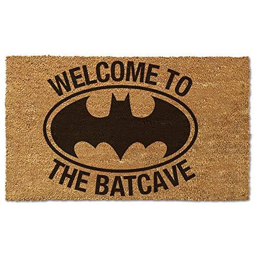 Felpudo de Batman con texto en inglés «Welcome to The Batcueve», 17 pulgadas x 29 pulgadas