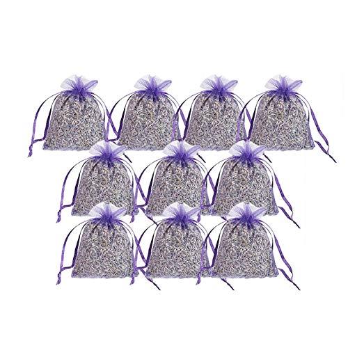 Lingge 15 stycken lavendelpåsar med äkta fransk lavendel doftpåsar lavendel för avkoppling malskydd i garderob för skåp lådor fyllda med naturligt amicably