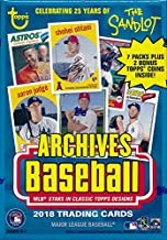 2018 Topps Archives Baseball EXCLUSIVE Factory Sealed Retail Box with BONUS PACK of 2 Topps Coins! Look for Auto's of Mike Trout, Shohei Ohtani, Ronald Acuna, Sandy Koufax, Derek Jeter & More! WOWZZER
