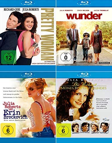 Julia Roberts 4-Filme Collection: Pretty Woman + Wunder + Die Hochzeit meines besten Freundes + Erin Brockovich - Eine wahre Geschichte [4er Blu-ray-Set]