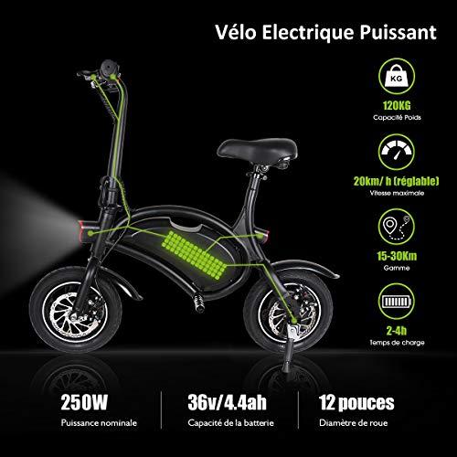 Windgoo Electric Bike, Urban Commuter Folding E-bike, Max Speed 25km/h, 12' Super Bike, 350W/36V Charging Lithium Battery, Unisex Bicycle