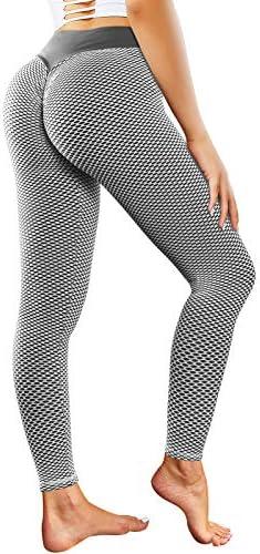 Cimkiz Leggings for Women Butt Lifting Leggings Anti Cellulite High Waist Yoga Pants Tummy Control product image