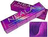 Matizador Profesional SIN AMONIACO y libre de PPD y MEA - V+- Violeta -Intensificador de color Violeta o Lila especial para mechas- NEALA 100ml.