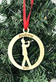 Custom engraved marching band trumpet ornament with name and year