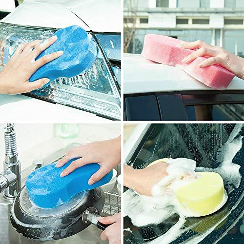 YSHtanj Auto Schoonmaken en Onderhoud Sponge 8-Shape Multipurpose Huishoudelijke Auto Schoonmaken Wasmiddel Waxing Sponge - Willekeurige Kleur