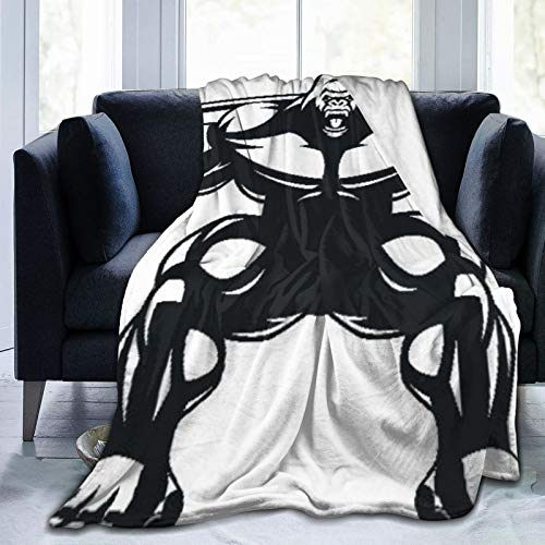 AIKIBELL Ultra-Soft Micro Fleece Blanket,Strong Monkey Athlete,Home Decor Warm Throw Blanket for Couch Bed,50'X 40'