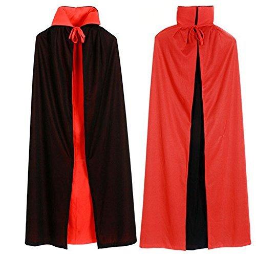『[ミューズ]ハロウィン クリスマス マント ドラキュラ風 赤黒 リバーシブル コスプレ イベント 衣装 (120cm)』のトップ画像