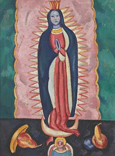 Berkin Arts Marsden Hartley Giclee Lienzo Impresión Pintura póster Reproducción Print(La Virgen de Guadalupe) Tamaño Grande 73.3 x 99.1cm