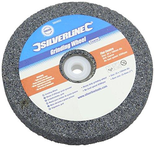Silverline Tools 380652 Muela Abrasiva de Óxido de Aluminio, 150 x 20 mm, Grueso