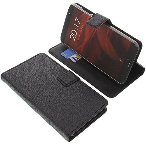 foto-kontor Tasche für Ulefone Gemini Pro Book Style schwarz Kreditkarte Schutz Hülle Buch