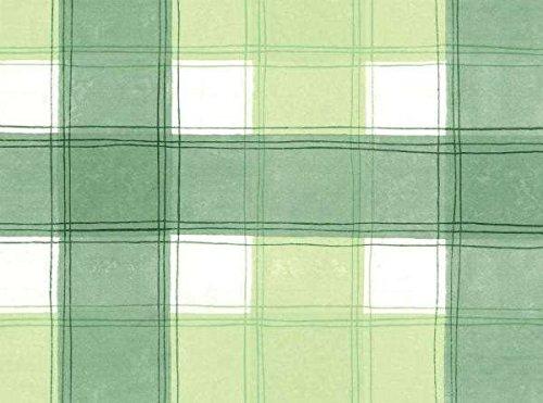 Nappe ovale en PVC/vinyle à carreaux Vert/blanc 140 x 250 cm