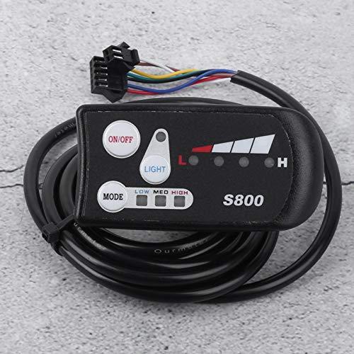 FOLOSAFENAR Medidor LED S800 Pantalla Bicicleta eléctrica Batería de Litio Accesorio Robusto Duradero, para Montar en senderos, para Deportes Escolares(48V)