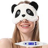 AROMA SEASON USB電熱式ホットアイマスク 疲れ目を解消 ストレス解消 かわいいパンダ 目当たる面のシルクの素材 温度とタイマー調節可能 日本語の取扱説明書付き スリープエイド ギフト 誕生日プレゼント(パンダ)