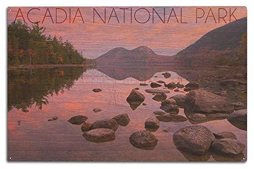 Holzschild Acadia National Park, Maine – Jordan Pond 10 x 15