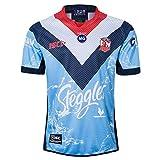 2019-2020 Australien Coq Hero édition Rugby Jersey, Coupe du Monde de Rugby Home Court T-Shirt, Jersey de Rugby Hommes Meilleur Cadeau d'anniversaire Blue-XL