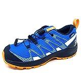 Salomon XA Pro V8 Climasalomon™ Waterproof (impermeable) niños Zapatos de trail running, Azul (Palace Blue/Navy Blazer/Butterscotch), 31 EU