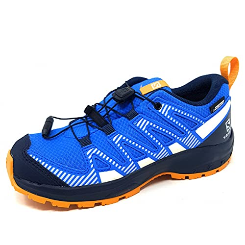 Salomon XA PRO V8 Climasalomon Waterproof, Scarpe da Trail Running, Palace Blue/Navy Blazer/Butterscotch, 37 EU