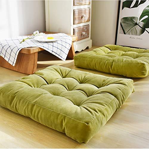ZMIN vierkant verdikt zitkussen, cord zacht zitkussen zitkussen volledige kleur pluche stok pad kussen futon tatami voor yoga bay raam Office keuken