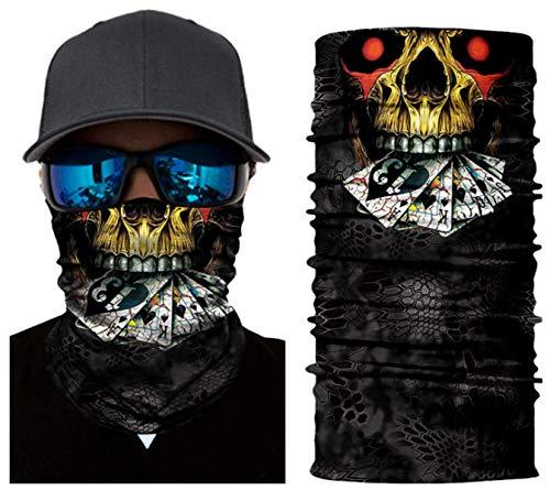 Elemental Goods [38 VARIATIONEN] Hochwertige Biker-Maske - Balaclava - Sturmhaube - Gesichtsmaske - Motorrad - Kopfbedeckung - Cool - Hals - Premium Design - Komfortabel - Haltbar - Fahrrad