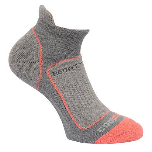 Regatta Great Outdoors Damen Trail Runner Sneaker-Socken (39-41 EU) (Stahl)