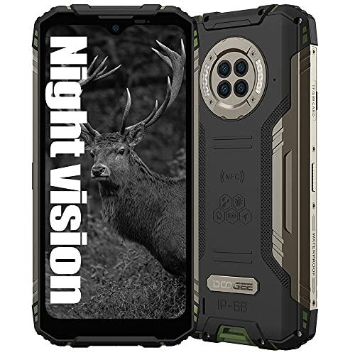 Smartphone Resistente con visión Nocturna por Infrarrojos DOOGEE S96 Pro, Helio G90 8GB + 128GB, Cámara 48MP (Infrarrojos 20MP) + 16MP, Teléfono móvil Resistente IP68 6.22', Batería 6350mAh NFC Verde