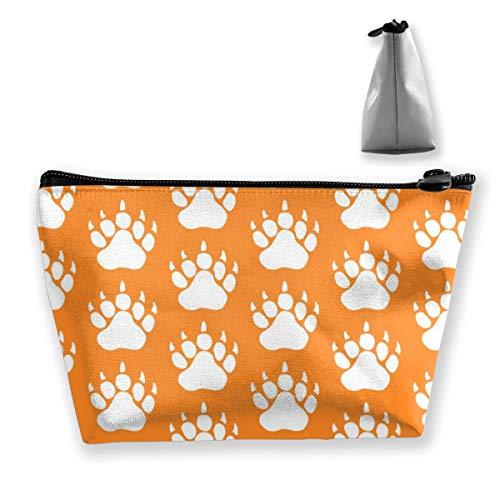 Multi-Functional Print Trapezoidal Storage Bag for Female Bear Animal Print in Orange
