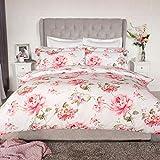 Belledorm Saara - Juego de funda de edredón y funda de almohada Oxford, diseño floral, 100% algodón, 200 hilos, color rosa