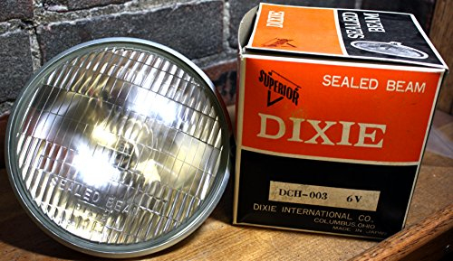 Superior Dixie Disitrubting DCH-003 6V 35 / 25W Sealed Beam Motorcycle...