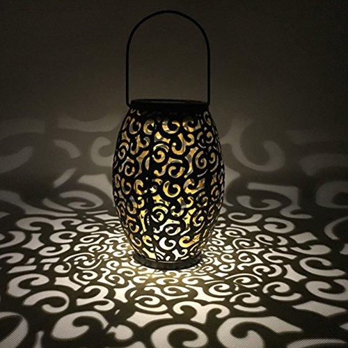Ledmomo LED-Solar-Laterne zum Aufhängen, marokkanische Silhouette, solarbetrieben, verheißungsvolles Wolkenmuster, Gartenbeleuchtung, wasserdichte Lampe für Terrasse und Hof