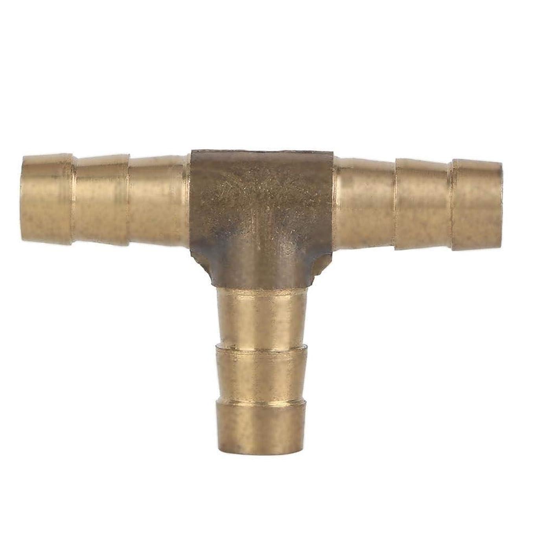 リングレットバリア推定するSamfoxy コネクタ合同カプラーアダプターフィッティングクリニーク厚さ8mmの真鍮ホーススプライサーパイプ(Tの形状)の