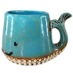 "Ceramic Whale Mug Fin Tail is the Handle Product Dimensions: 5.25x3.5x3.25""H"