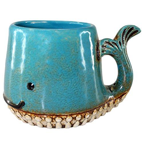 Whale Ceramic Mug Teal