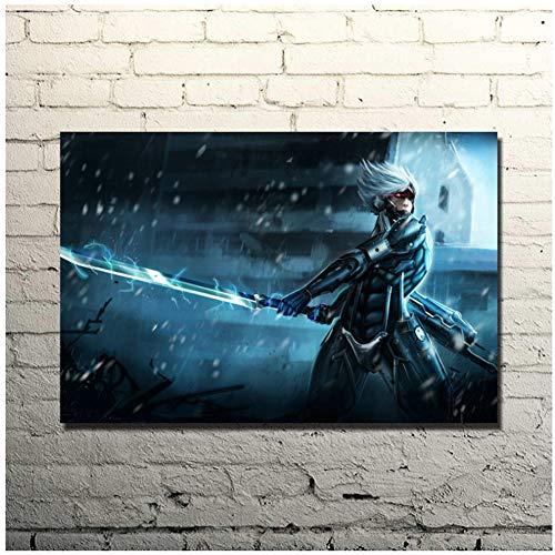 Metal Gear Solid V The Phantom Pain Póster de pared Lámina de arte Solid Snake Gme Imágenes para decoración del hogar Regalos para padres y amigos -50x75cm Sin marco