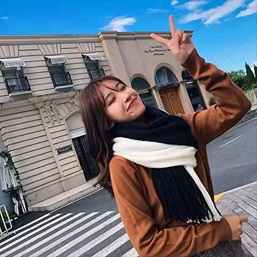 Modieuze sjaal voor dames met kleurcombinatie, uit kasjmier, warm, conditionerende lucht, dubbel gebruik, accessoires