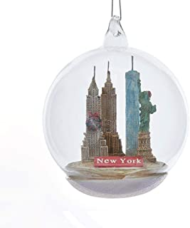 New York City Landmark Glass Ball Christmas Tree Ornament C8948NY New