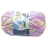 Suave Suave Leche de algodón natural de la mano de tejer lana de lana bola del...
