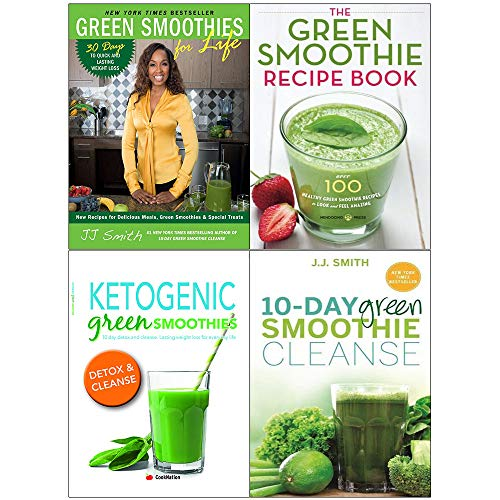 Green smoothies for life, 10-day cleanse, recipe book and ketogenic 4 books collection set